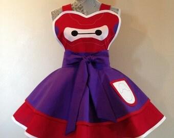 Baymax - Disney apron - retro apron - Big Hero 6 - womens apron - costume apron