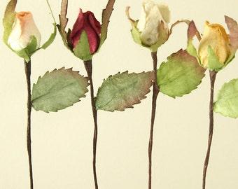 5x Mini Paper Rosebud