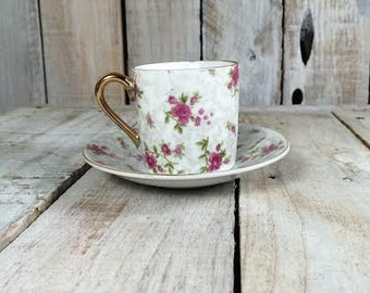 Flower Tea Cup Saucer - Tea Party Cup - Inarco - Mini Espresso Cups - Espresso Cup Set
