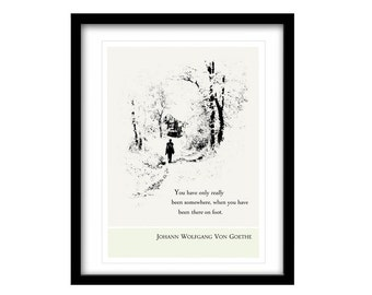 Literary Art Print, FREE SHIPPING, Goethe, Illustration Art, Literary Art Prints, Literary Quote Print, Black And White Art, Life Quotes