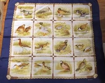 70s Original Gucci Ducks Silk Scarf