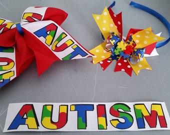 Autism Awareness Bows
