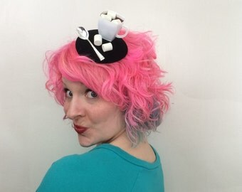 Hot Chocolate with Marshmallows Fascinator, Hot Cocoa fascinator