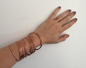 Copper Stacks - Copper Bangles