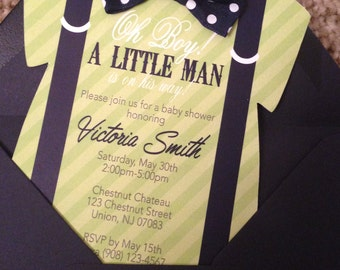 Die-Cut Onsie  Invitation