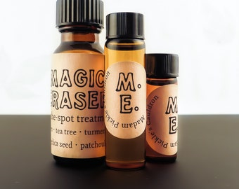 Magic Eraser™ On-the-Spot Blemish Therapy * Neem, Turmeric & More Essential Oil in a Specialized Blend * 100% Natural * Acne Treatment