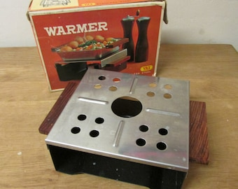 Vintage YAX stainless steel food warmer