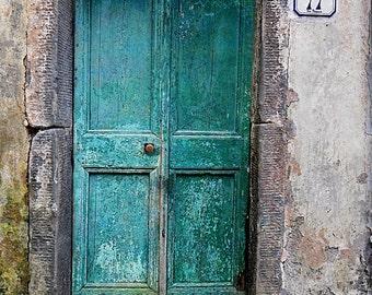 Teal Door - Photograph