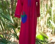 Heiress Robe // Vintage Red Robe // Vintage Bathrobe// Caftan