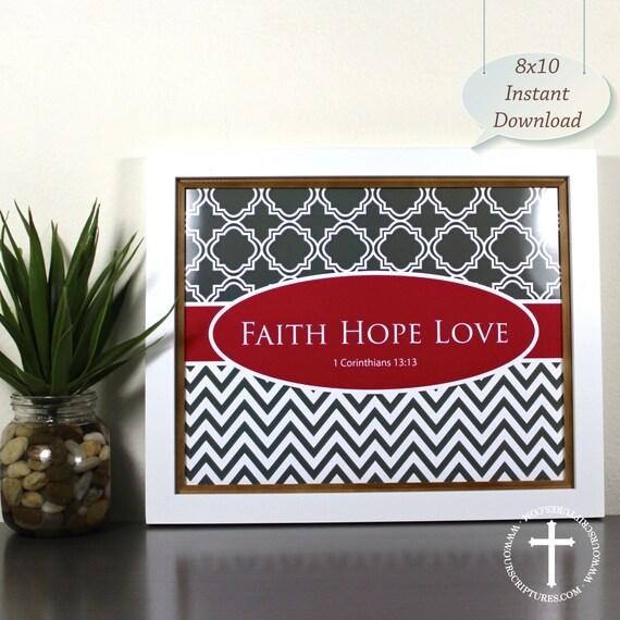 Items similar to bible verse art print wall art printable for Faith decor