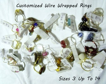 Custom Made Wire Wrapped Ring
