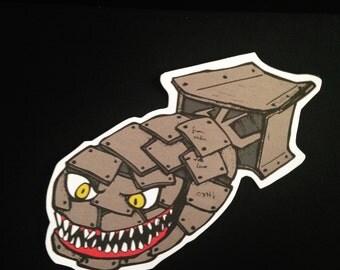 Evil Atom Bomb Vinyl Sticker/decal