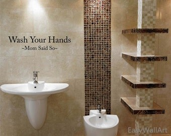 Wash Your Hands Bathroom Wall Quotes Decal For Bathroom, Toilet U0026 Great  Quotes, Wall