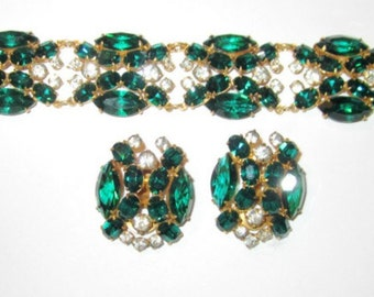 Exquisitely Detailed 1940's Bracelet and Earring Set