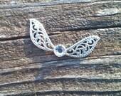 Crystal Swarovski -Legend of Zelda Necklace -Zelda Jewelry-Fairy Necklace -Fairy Jewelry -Fairy Wings -Butterfly Necklace -Butterfly Jewelry