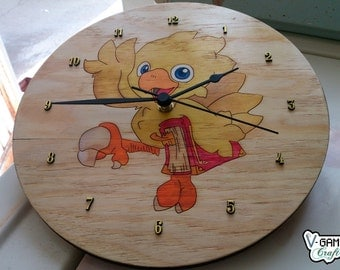 Wall Clock inspired in Chocobo