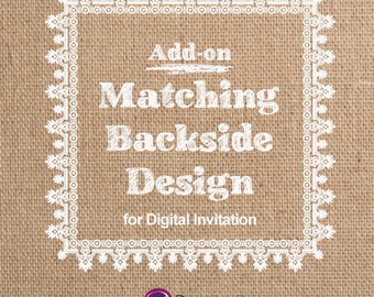 Matching Backside design for invitation <Add-on Item>