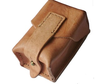 Small Vintage Leather Ammo Pouch Fitts Any Belt Genuine Army Surplus