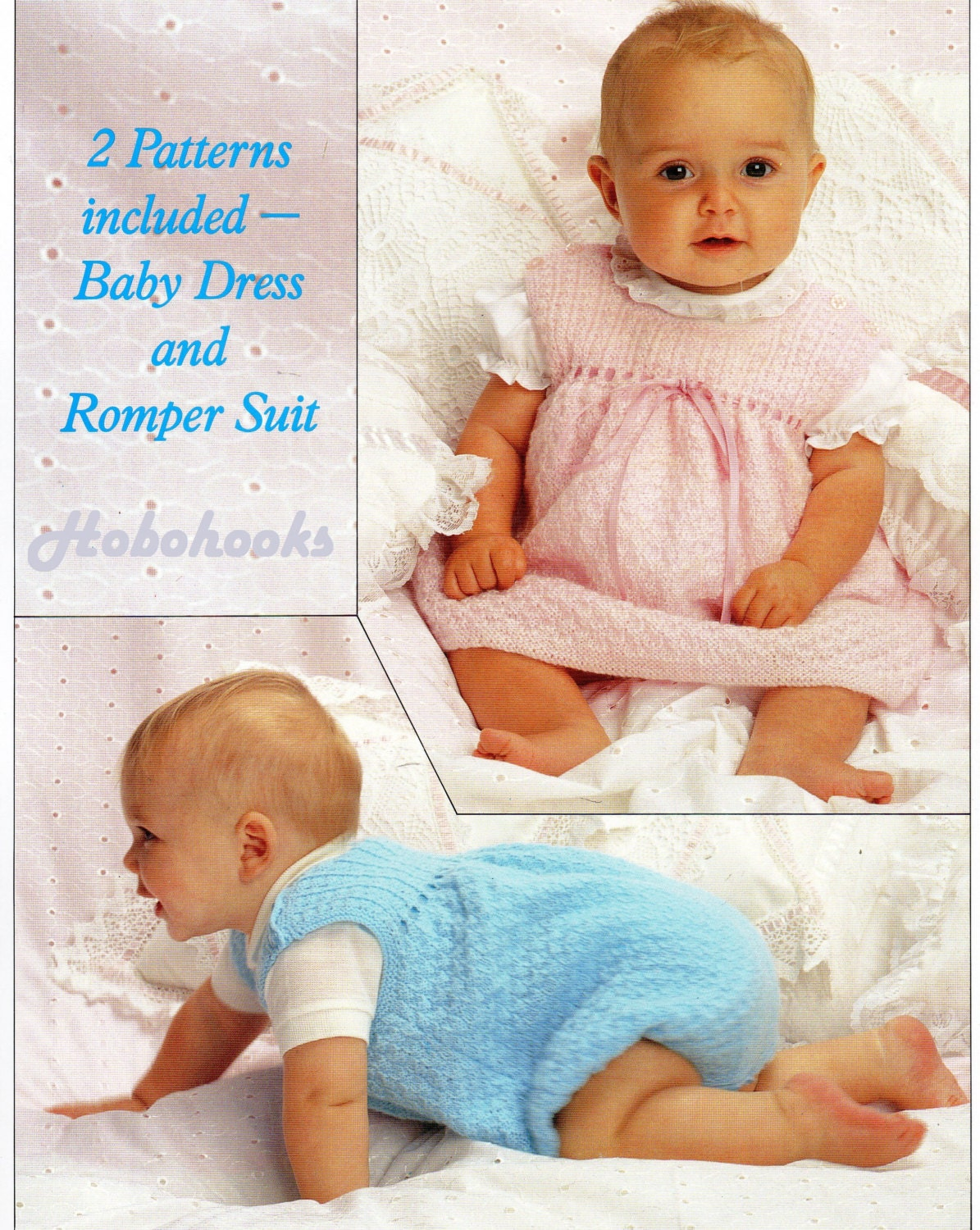 Baby knitting pattern baby dress rompers pinafore romper suit