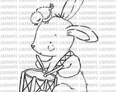 Digital stamp Easter Bunny. digistamp. Easter digi stamp.Bunny stamp.Bird digital stamp. LiaStampz
