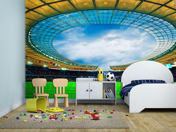 Stadio di calcio cameretta carta da parati di homeartstickers