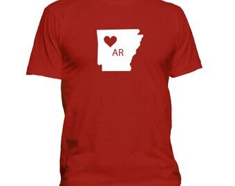 Love Arkansas T-shirt, home state t shirt, gift idea 098