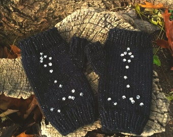 Pisces Fingerless Gloves