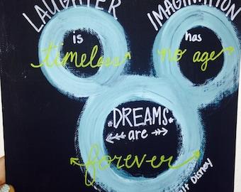 Walt Disney Quote Canvas Panel