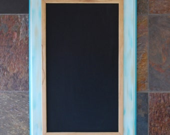 Teal Chalkboard, Wedding Chalkboard, Teal Chalkboard, Chalkboard Sign, Kitchen Chalkboard Frame, Chalkboard