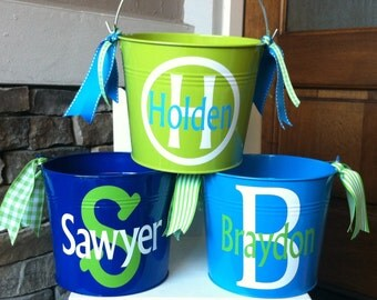 Personalized Boy's Easter Bucket/Pail