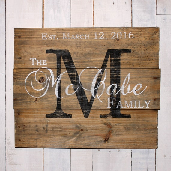 Custom Name Sign Pallet Last Name Wood By EverydayCreationsJen