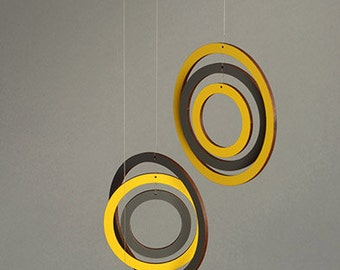 Beautiful hanging mobile - Geometric - Circles - Home Decor