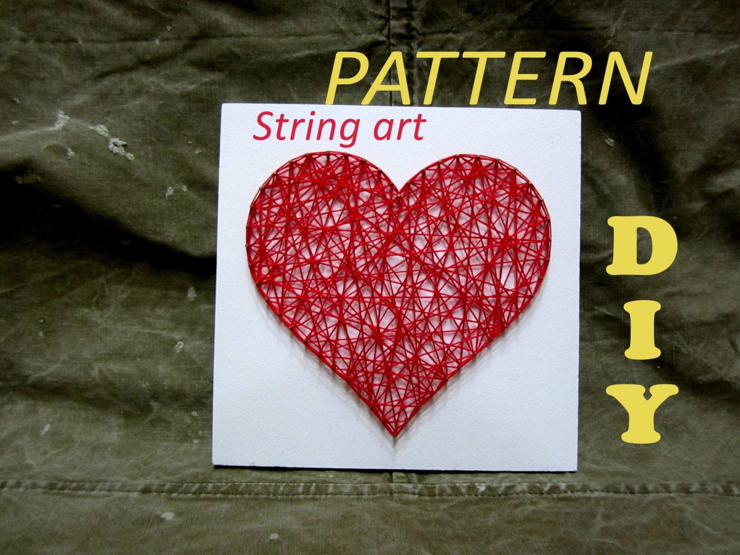 heart string art instructions