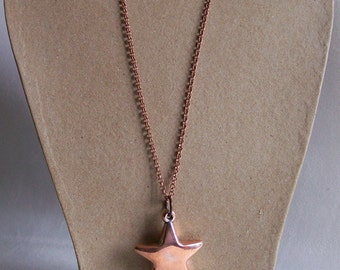 Five point star necklace copper chain