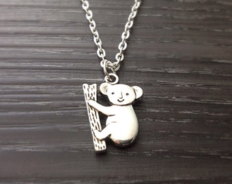 Koala Necklace, Koala Bear Necklace, Australian Koala Bear Jewelry, Animal Necklace, Animal Jewelry, Friendship Jewelry, Gifts Under 20