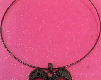Black Bowtie Choker Necklace