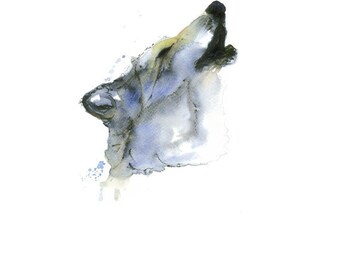 Timber Wolf Painting living room clipart   Watercolor Wolf Painting   Animal Poster   Hand made   Instant download High res Jpeg 300 dpi