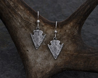 Arrowhead silver earrings