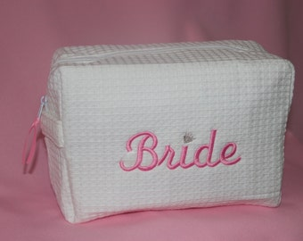 Bride,  Bridesmaid and Bridal Party Cosmetic Bag