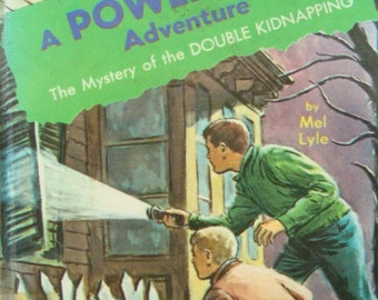 Vintage Power Boys Adventure - The Mystery of the Double Kidnapping  - Youth Series Reading Book with Illustrations