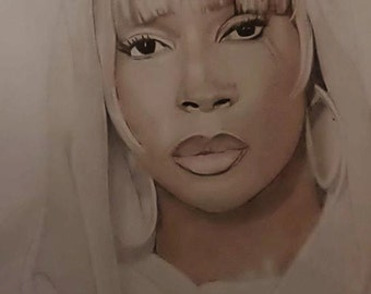 marry j blige drawing