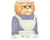 The Cook / PRINT / Cat Art / Cat Print / Cat Drawing / Cat Portrait / Cat Illustration