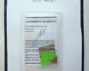 Art Object With Certificate of Authenticity