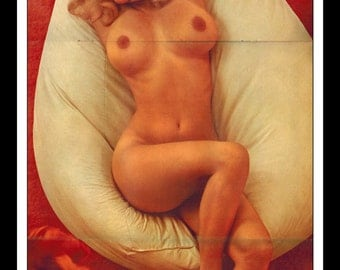 "Mature Playboy April 1970 : Playmate Centerfold Barbara Hillary 3 Page Spread Photo Wall Art Decor 11"" x 23"""