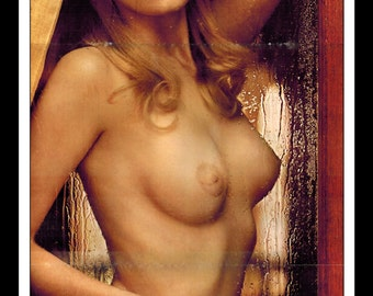 "Mature Playboy April 1972 : Playmate Centerfold Vickie Peters Gatefold 3 Page Spread Photo Wall Art Decor 11"" x 23"""