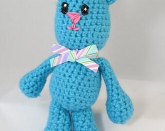 "Crochet bunny, bunny stuffed animal, bunny plush, small stuffed animal, baby bunny, 12"" stuffed bunny rabbit, Amigurumi bunny, Nursery decor"