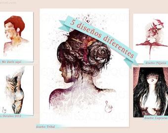 Illustration Poster Print A3