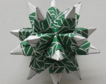 Green Spiked Star Kusudama