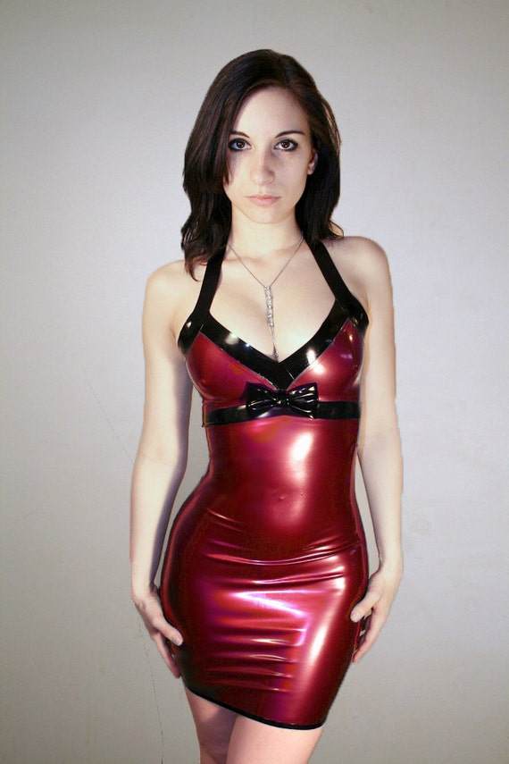 Latex dress etsy