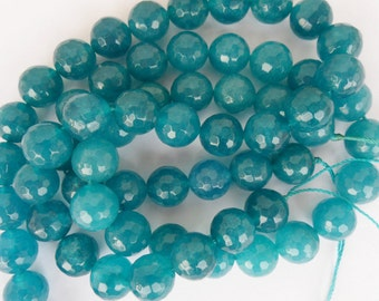 ROUND FACETED AGATE 12 mm 6 PCs